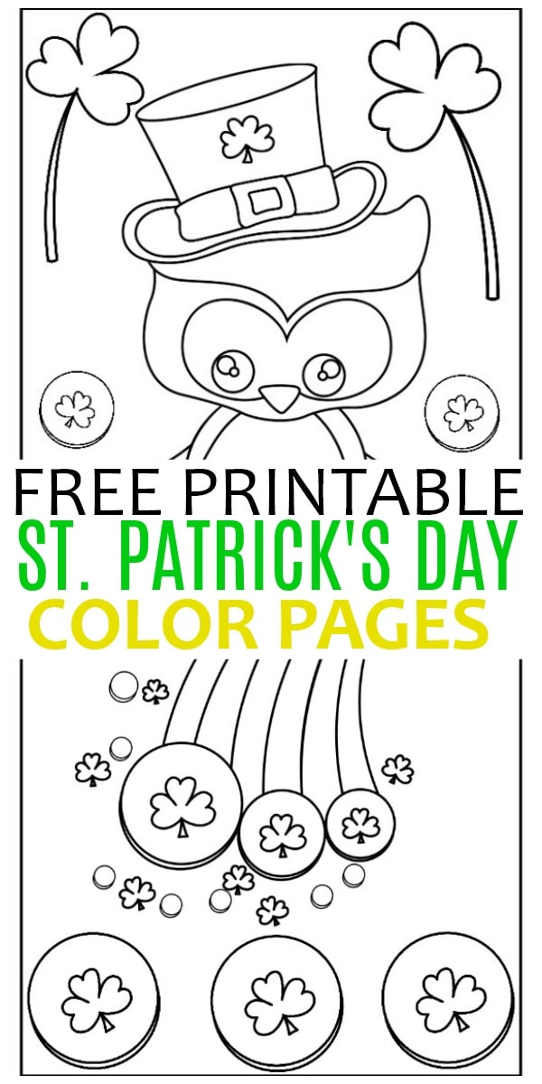 St. Patrick's Day Color Pages