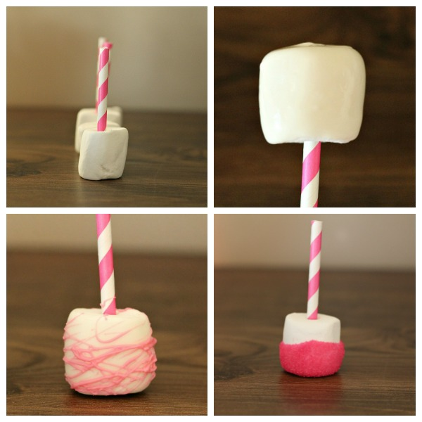 how to make Valentine Dipped Marshmallows