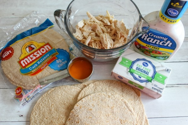 ingredients needed for Weight Watchers Buffalo Chicken Taquitos