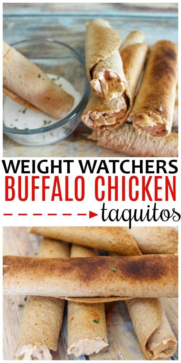 Weight Watchers Buffalo Chicken Taquitos