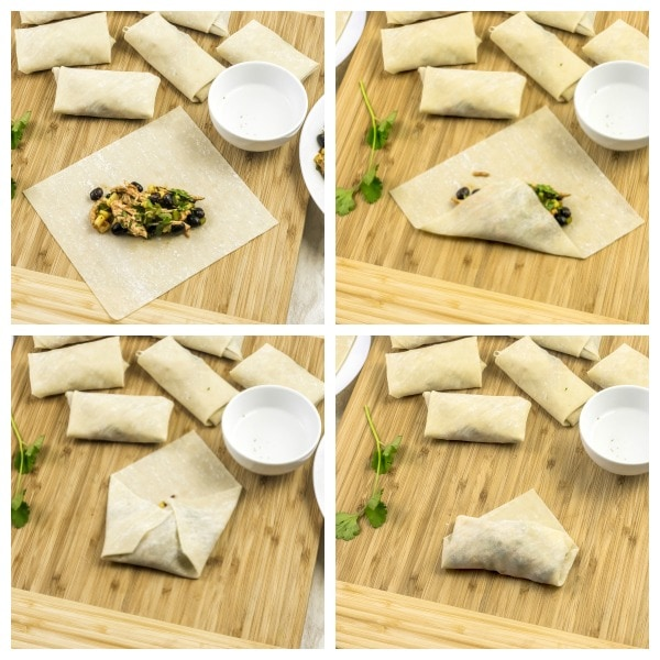 how to make Mexican Spring Rolls