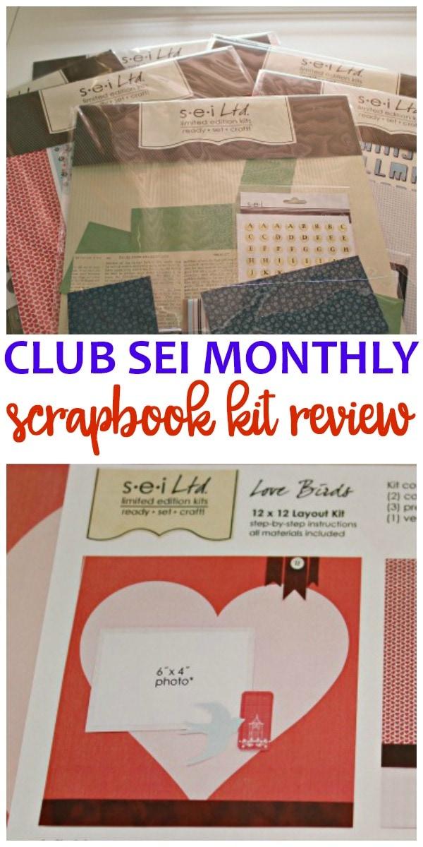 Club SEI Scrapbook Kit Review