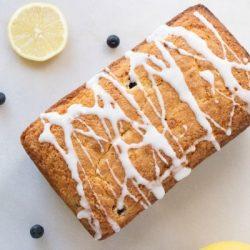 one bowl lemon blueberry bread