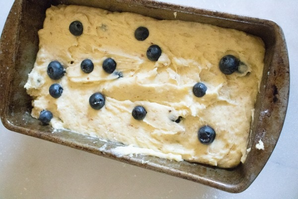 instructions for lemon blueberry bread