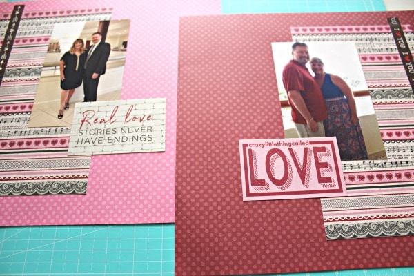 Quick Valentine's Day Scrapbook layout