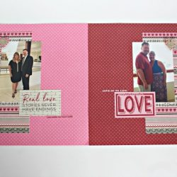 Valentine's Day scrapbook double layout