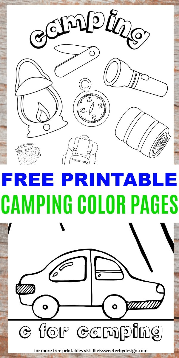 Camping Color Pages