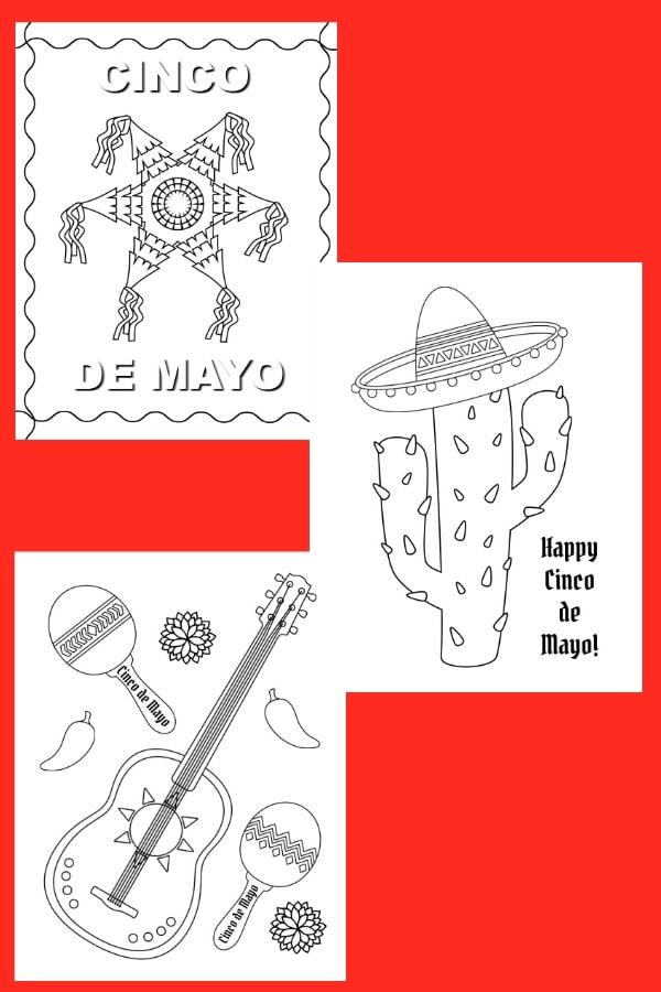 free printable Cinco de Mayo Color Pages