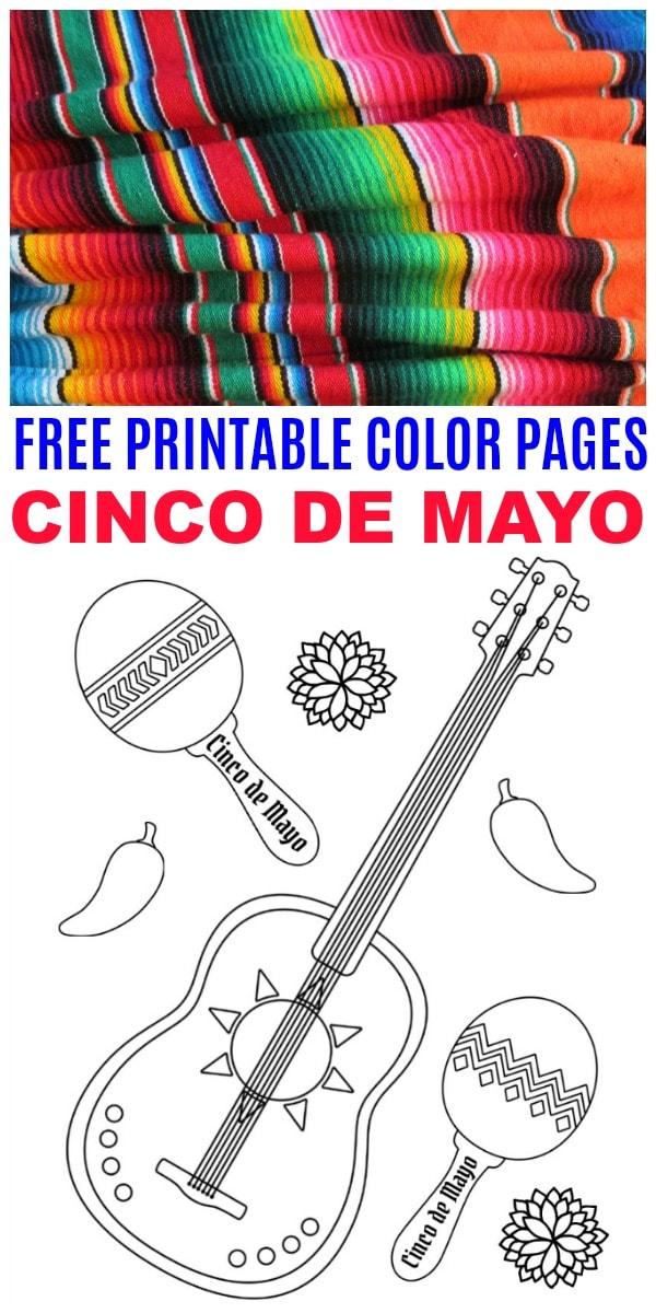 Cinco de Mayo Color Pages