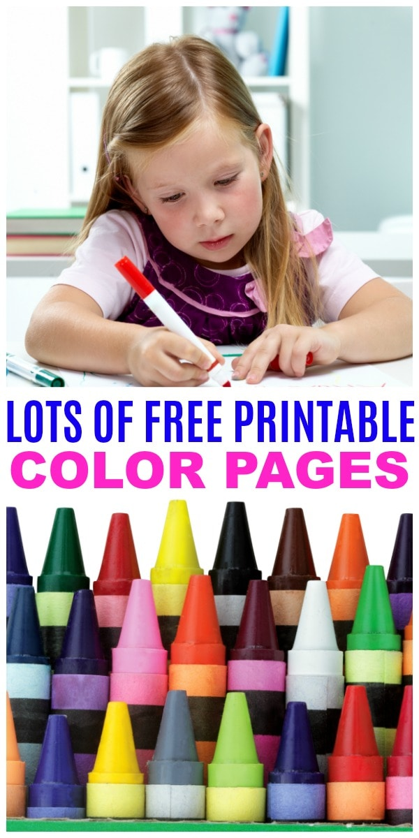 free printable color pages