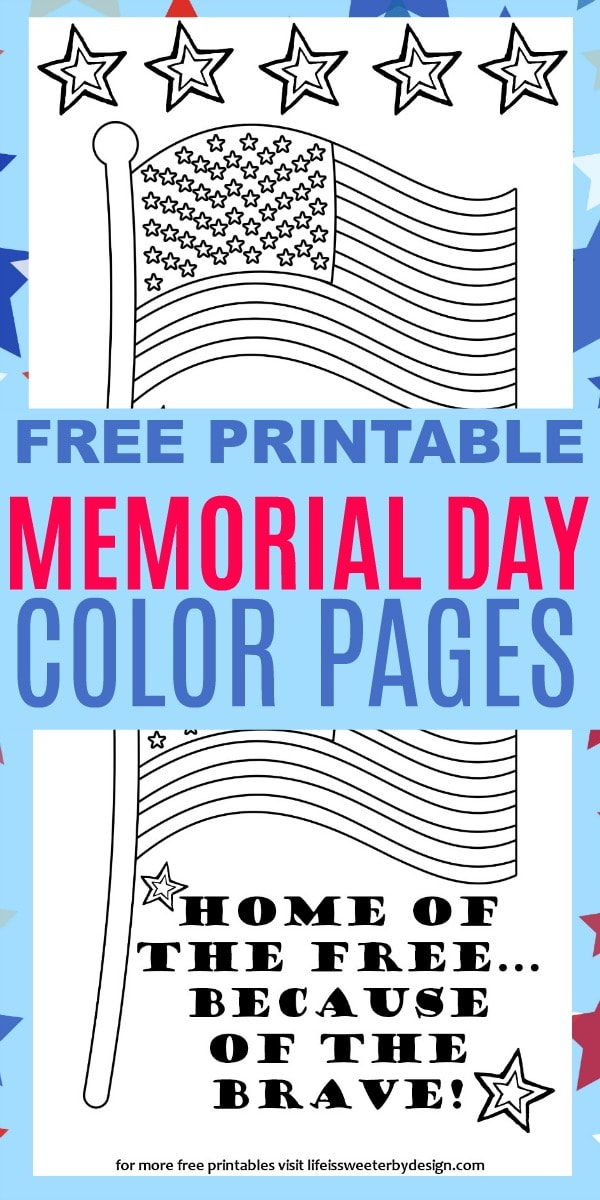 Memorial Day Color Pages
