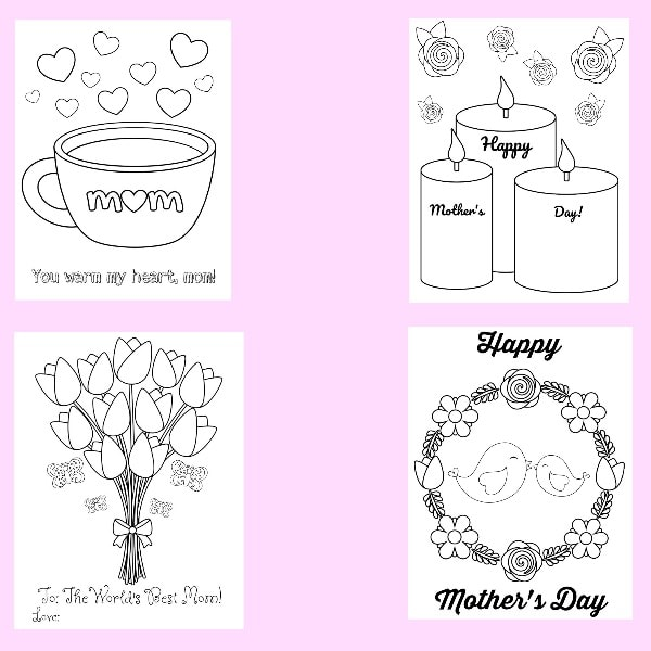Mother's Day Color Pages