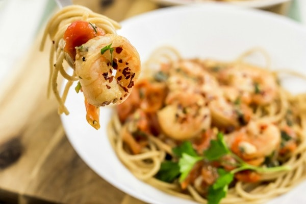 Weight Watchers Shrimp Spaghetti
