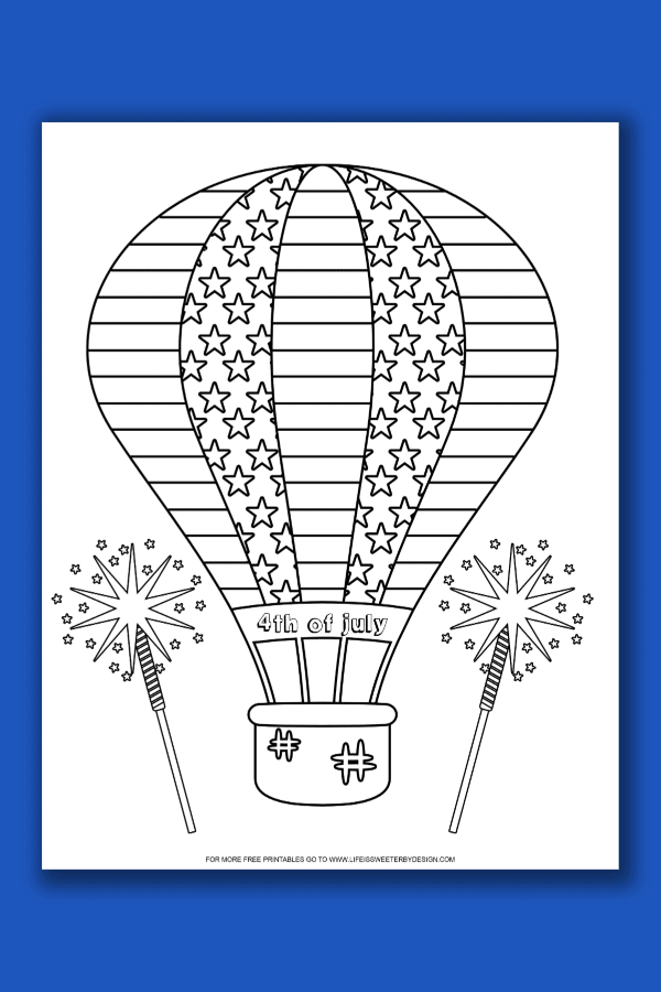 free 4th of July Color Pages