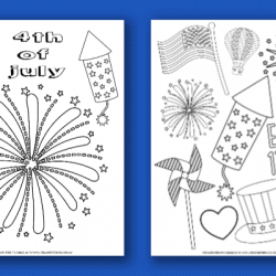 free printable 4th of July Color Pages