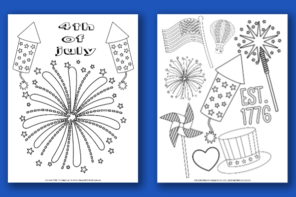 photo regarding Free Printable 4th of July Coloring Pages known as 4th of July Colour Webpages - Lifestyle is Sweeter As a result of Design and style