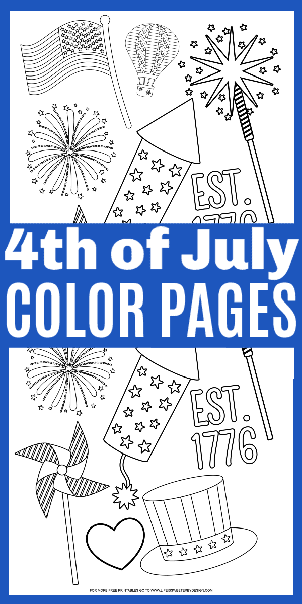 4th of July Color Pages