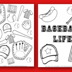 free printable Baseball Color Pages