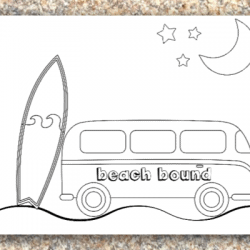 free printable beach color pages