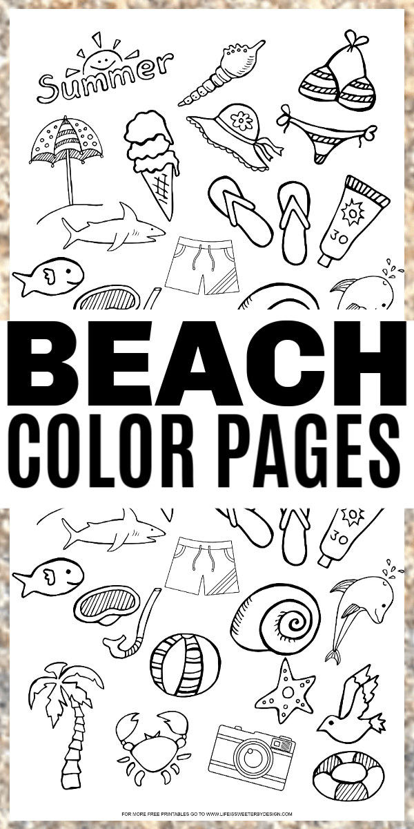 beach color pages