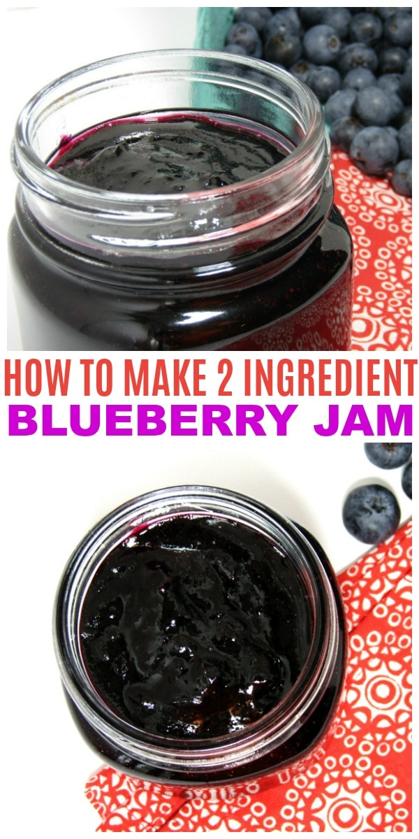 how to make blueberry jam with 2 ingredients
