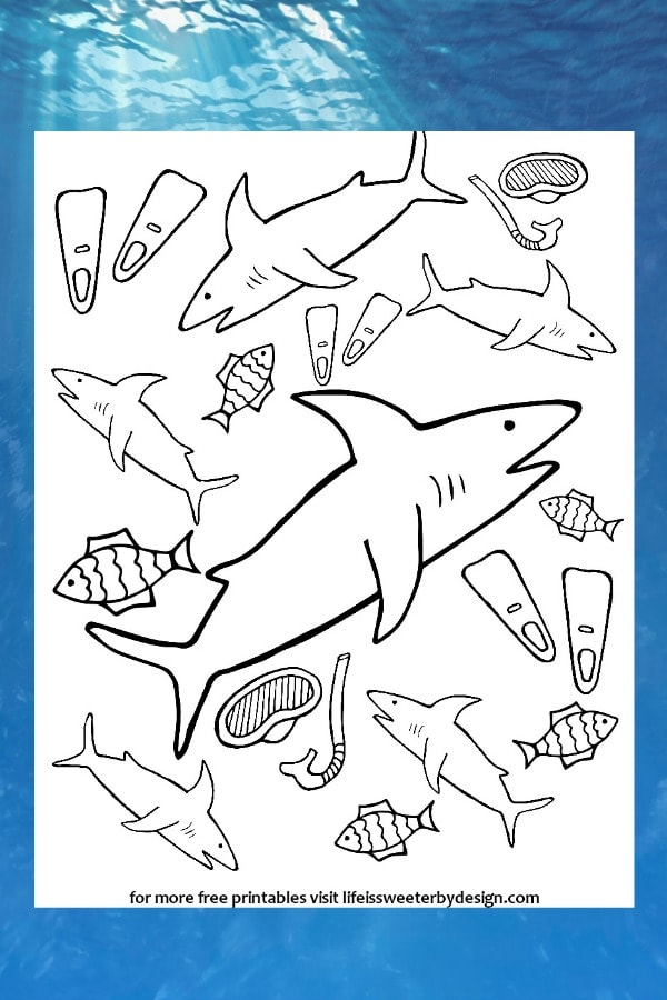Cartoon Shark Smiling Coloring Page - Free Shark Coloring Pages ... | 900x600