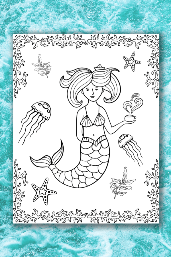 image relating to Printable Mermaids identify Mermaid Colour Internet pages - Existence is Sweeter As a result of Style and design