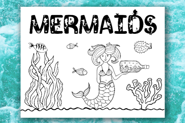 photo relating to Printable Mermaids named Mermaid Shade Webpages - Daily life is Sweeter Via Style