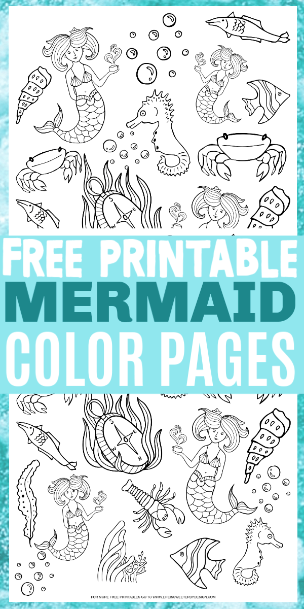 Mermaid Color Pages