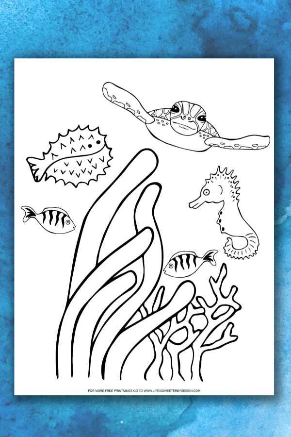 Ocean Coloring Pages Life Is Sweeter By Design