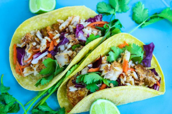 Weight Watchers Cajun Fish Soft Tacos