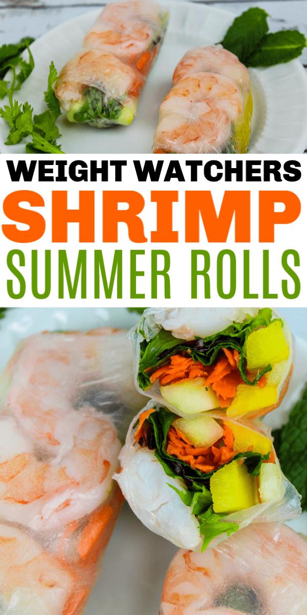Weight Watchers Shrimp Summer Rolls