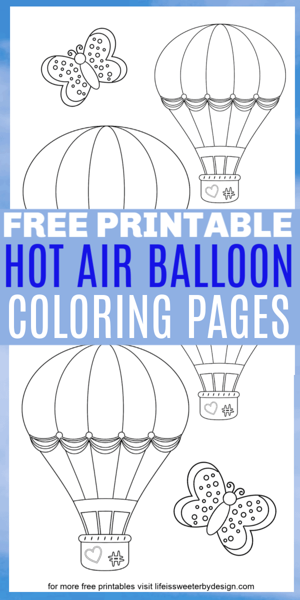 Hot Air Balloon Coloring Pages
