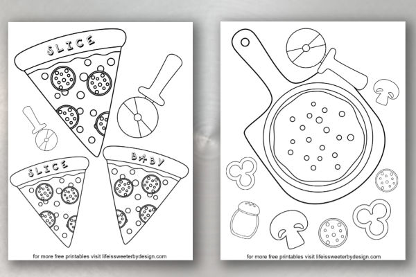 Pizza Coloring Pages Life Is Sweeter By Design
