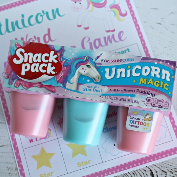 printable unicorn matching game