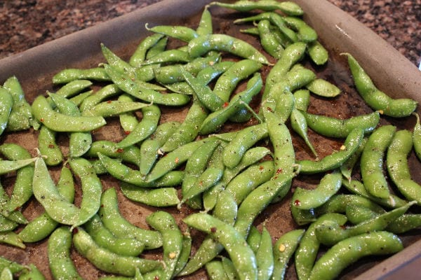 how to make roasted spicy edamame