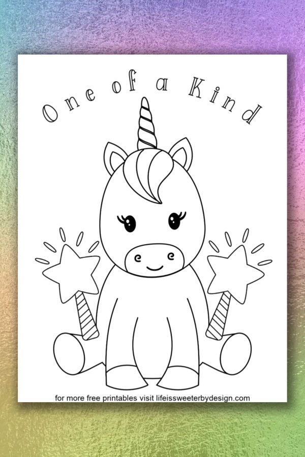 Unicorn Coloring Pages - Life Is Sweeter By Design
