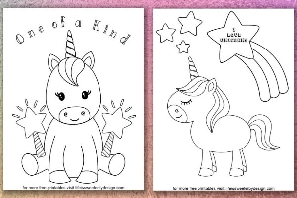 - Unicorn Coloring Pages - Life Is Sweeter By Design