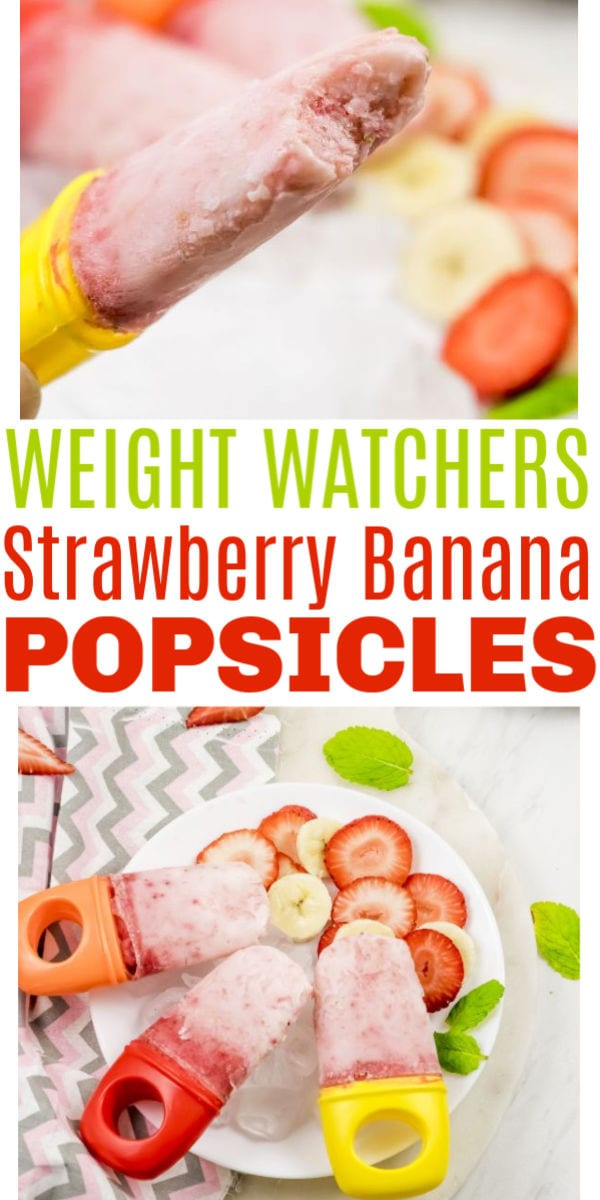 Weight Watchers Strawberry Banana Popsicles