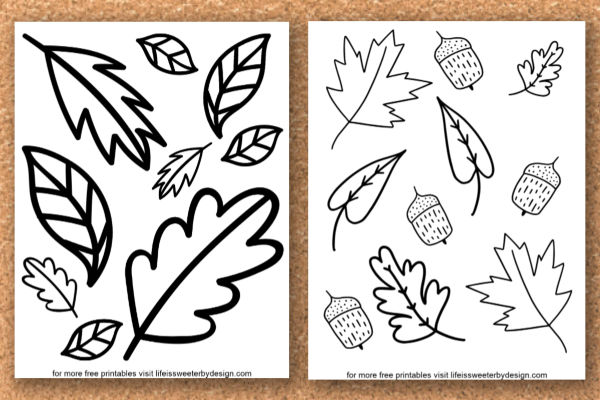 Fall Leaves Coloring Pages Life Is Sweeter By Design