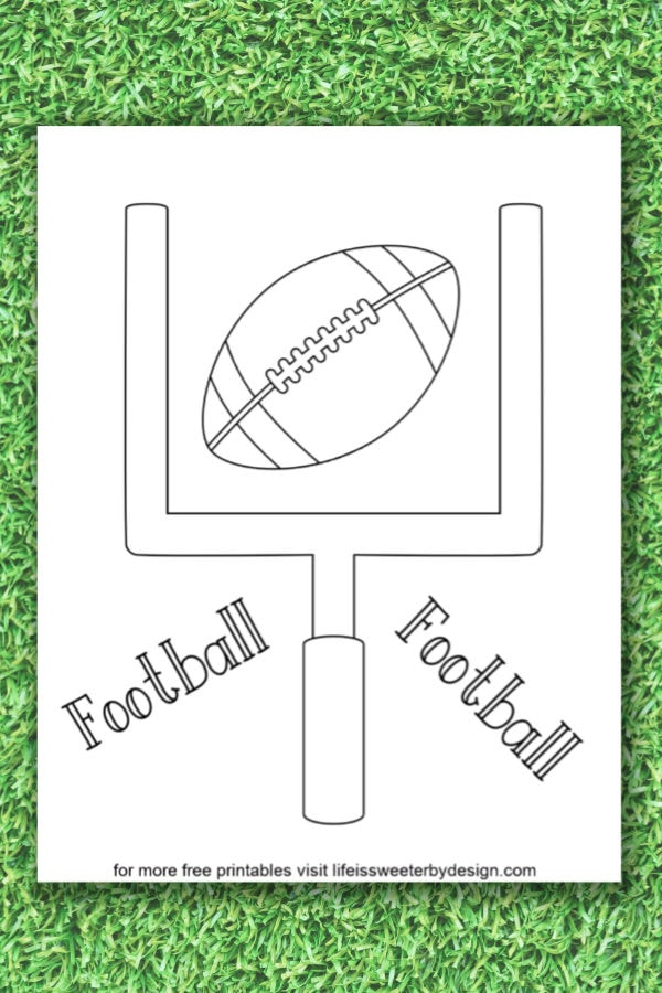Football Coloring Pages Life Is Sweeter By Design