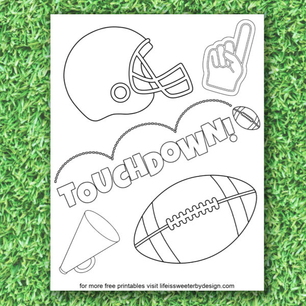 - Football Coloring Pages - Life Is Sweeter By Design