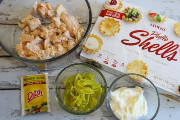 ingredients for Weight Watchers Chicken Salad Bites