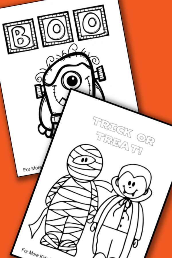 FREE Halloween Coloring Pages for Adults & Kids - Happiness is ... | 900x600