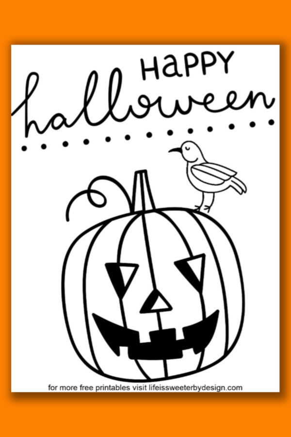 Pumpkin Coloring Pages Life Is Sweeter By Design