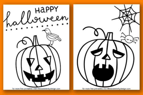 Pumpkin Coloring Pages - Life Is Sweeter By Design