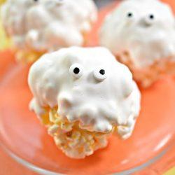 Ghost Halloween Popcorn Balls