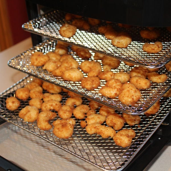 popcorn shrimp cooked in air fryer oven