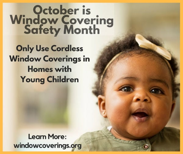 October is window covering safety month