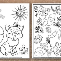 free printable fox coloring sheets